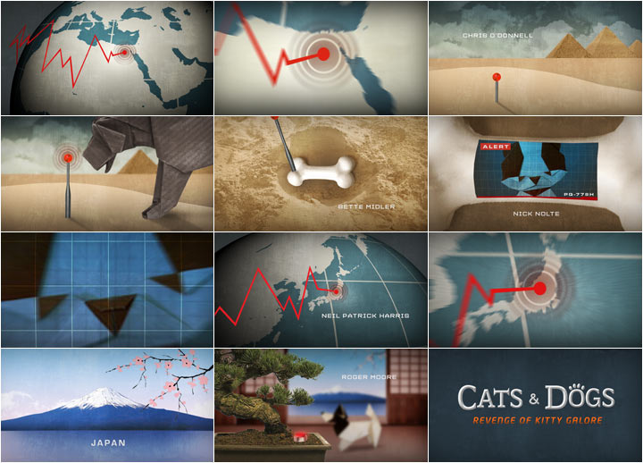 Cats and Dogs: The Revenge of Kitty Galore storyboards