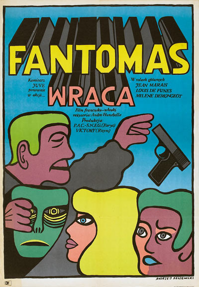 Fantomas Se Dechaine (Polish movie poster)