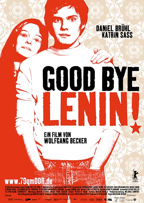 Goodbye Lenin! film poster designed by Darius Ghanai