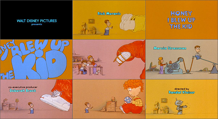 'Honey, I Blew Up The Kid' animated title sequence by Bob Kurtz