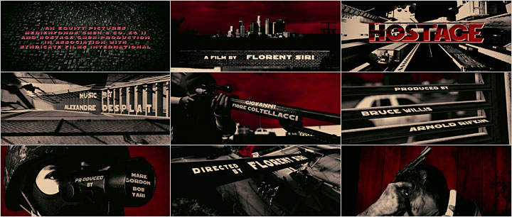 Hostage title sequence, stills