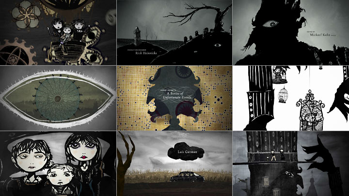Lemony Snicket's title sequence by Jamie Caliri