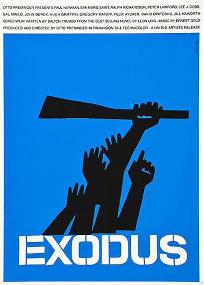 Saul Bass, Exodus, Poster, 1960