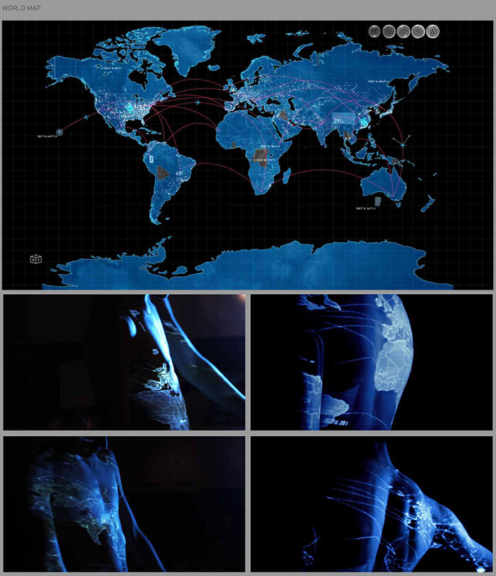 This Means War, Projection Test, World Map