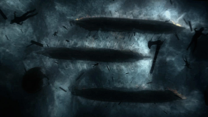 Vikings title sequence by The Mill (still)